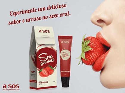 Imagem de Gel Comestível Sex Gourmet Morango - 30g
